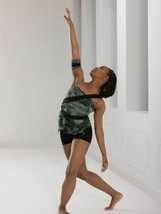 Revolution Dancewear Top 0381 Green SA Small Adult Trouble is a Friend SS13 - $17.82