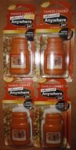 4 new yankee candle almost anywhere jar air freshener autumn wreath - $13.00