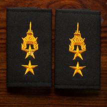 Lieutenant Colonel, Lt.Col. Rank Royal Thai Army Shoulder Boards Fabric Pair - $23.38