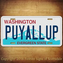 Puyallup Washington City State College Aluminum Vanity License Plate Tag - $12.82