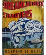 Dreamcatcher Charters Keeping it Reel Fishing Fish Metal Sign - $17.95