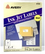 "NEW Avery TrueBlock Inkjet Shipping Labels - 2"" x 4"" White - Addressing ... - $9.45"