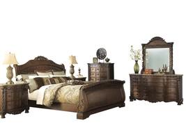 Ashley North Shore 6PC Bedroom Set E King Sleigh - Brown - $5,400.19