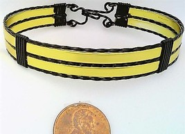Gold Anodized Aluminum Black Copper Wire Wrap Bracelet 14 - $16.00