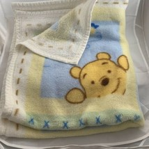 Vtg Disney Luxe Plush Fleece Baby Blanket Throw Winnie The Pooh And Friends - $64.99