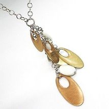 Necklace Silver 925, Agate White, Pendant Bunch, Ovals Pink, Chain Rolo ' image 5