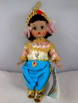 "Madame Alexander excellent 567 Thailand dolls of world 8"" all original clothes - $22.76"