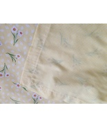 """Yellow Gingham White Daisy Table Topper 38"""" Square 100% Cotton Tablecloth - $12.99"""