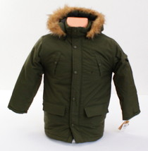 G Unit Olive Green Zip Front Hooded Winter Jacket Coat Youth Boy's Size 6  - $113.84
