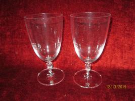 "Royal Doulton Oxford Crystal Set of 2 Iced tea goblet 7"" - $22.72"