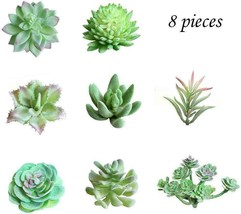 WOWENWO 8 Pcs Artificial Succulents Plants Fake Assorted Faux Succulent ... - $20.27