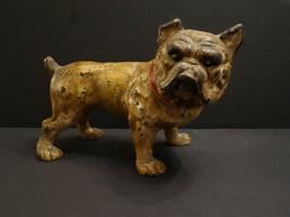 All Original HUBLEY Antique Bulldog Dog Cast Iron Bank 1920 - $375.00