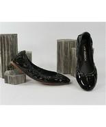 Tory Burch Eddie Black Nappa Patent Leather Ballet Flats Sz 8 NIB - $162.86