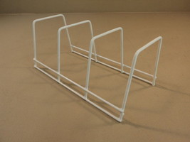 Standard Dish Drying Rack 11in x 5in x 5in White Plastic Metal - $13.48