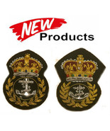ROYAL NAVY CHIEF PETTY OFFICERS CAP BADGE CURRENT ISSUE QUEEN & KING CRO... - $19.65+