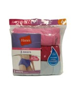 Hanes Ladies Size 6  Cotton Brief Panties Wicking Fabric Tagless  Pink &... - $12.26