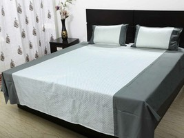 Double bedsheet with 2 pillow cloth 220 x 250 C... - $44.00