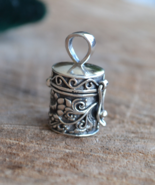 SOLD-sterling silver bottle necklace, Stash necklace, wish box, lotus, P118 - $39.99+