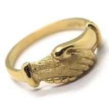Yellow Gold Ring 750 18K, Santa Rita, Hands, Polished and Satin, Italy Made image 4