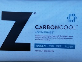 Z CARBONCool OMNIPHASE GRAPHITE-infused  MEMORY foam  SUPER COOLING PILL... - $138.60