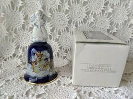 Avon Heavenly Notes Porcelain Christmas Bell 1992 NOS - $14.54