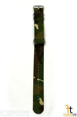 24mm per Luminox Nylon Ondulata Mimetico Orologio con Cinturino 4 S/S Anelli