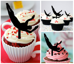 Decorations Wedding,Birthday Cupcake topper,springboard platform diving ... - $10.00