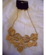 a.n.a. Filigree Necklace Gold Tone Metal 18-21 Inch Necklace   NEW - $22.76