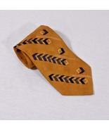 Kenneth Cole Reaction Men's Neck Tie Gold Geometric Design  (C16) - $6.35