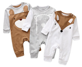 StylesILove Cute Animal Shaped Long Sleeve Cotton Romper Outfit - $13.99