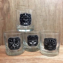 4 Piece Aircraft Instrument 11oz Glass Tumbler Set Gift For Your Favorit... - $44.55