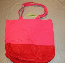 Victoria's Secret Red And Pink Handbag Canvas Bag 18 x 15 - $24.74