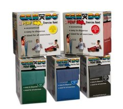 CanDo Latex Free Exercise Band 100 yard Perf 100 rolls, 5-piece set (1 e... - $699.99