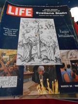 Great Vintage Life Magazine Mar 24,1967 Easter In Jerusalem...Svetana Stalin - $9.49