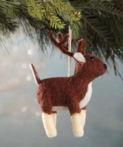 Wool Felted Deer  Ornament by Bethany Lowe