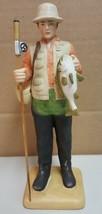 BB) Enesco Designed Giftware Fisherman Shore Hunter 1985 Figurine Statue - $4.94