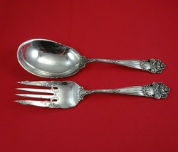 """Georgian by Towle Sterling Silver Salad Serving Set 2pc All Sterling Original 9"""" - $709.00"""