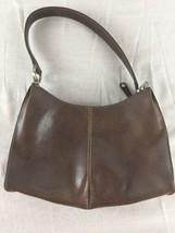 LIZ CLAIBORNE BROWN SHOULDER BAG W/ Center Zipper & 2 Open pockets & inn... - $14.80