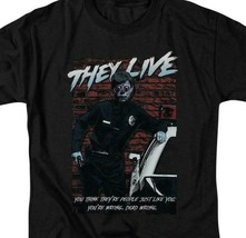 They Live t-shirt Retro 80's Sci-Fi horror 100% cotton graphic tee UNI970 image 2