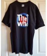 T-Shirt The Who Bullseye Arrow Graphic L Black White Blue Red Gildan Roc... - $12.99