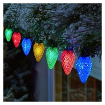 Philips 80ct Christmas LED Spool 8 Function Faceted C9 String Lights image 2