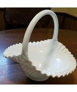 Hobnail 10 inch Basket in Hobnail Milk Glass by Fenton - $44.55