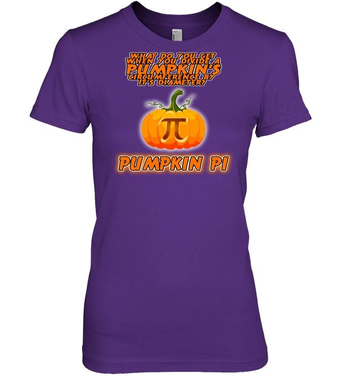 Funny Pumpkin Pi Math Tshirt for Nerds  Teachers
