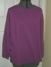 TALBOTS WOMEN'S KNIT TOP SWEATER SIZZE XXL PURPLE STRETCH NWT - $16.98