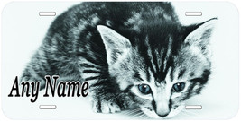 Little Cat Kitty Personalized Any Name Aluminum Car Novelty License Plate - $14.80