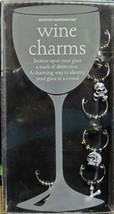 Wine Charms Skulls Bones Bone Collector Set of 6 New in Package - $6.50