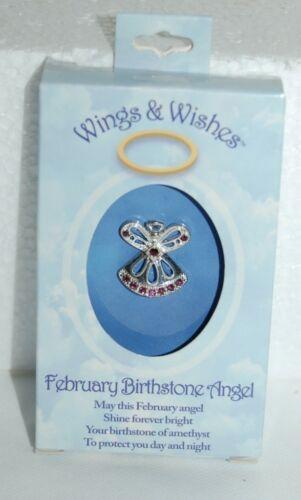 DM Merchandising Wings Wishes WGW02 Febraury Birthstone Angel