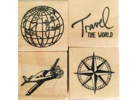 Recollections Travel Rubber Stamps Set of 4
