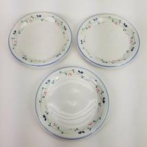 "Set Of 3 Allegro Stoneware 10 1/2"" Dinner Plates Hearthside Floral Pattern EUC - $37.39"
