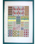 EGYPT Egyptian Wall Paintings & Ornaments - COLOR Litho Print A. Racinet - $22.95